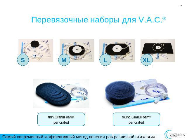Перевязочные наборы для V.A.C.® thin GranuFoam®perforated round GranuFoam®perforated
