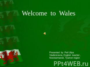 Welcome to Wales Presented by Peil Uliya Vladimirovna, English teacher , Novotar