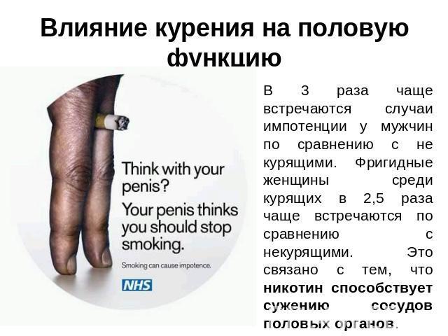 Влияние курения на спермогенез