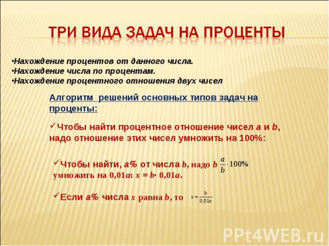 3 вида решения задач на проценты пример решения задачи на 1с специалиста по