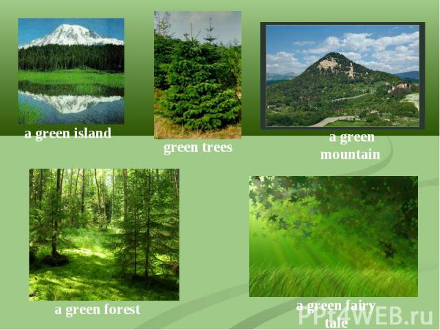 a green islandgreen trees a green mountaina green foresta green fairy tale