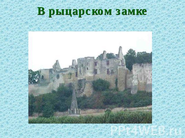 Доклад в рыцарском замке 9741