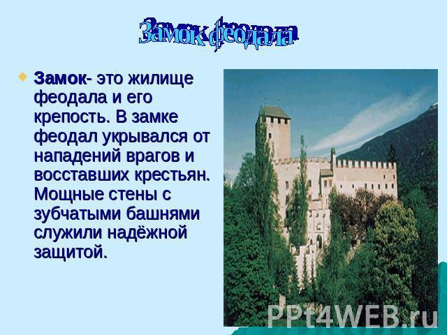 История жизнь в замке