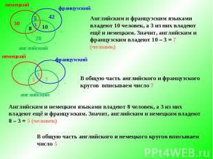 Решение задач с помощью кругов эйлера презентация решение задач миноры алгебраические дополнения