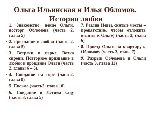 Анализ Знакомства Ильинской С Обломовым