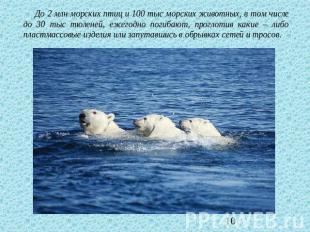 До 2 млн морских птиц и 100 тыс морских животных, в том числе до 30 тыс тюленей,