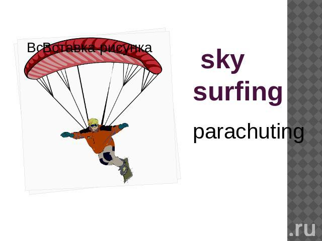 sky surfing parachuting