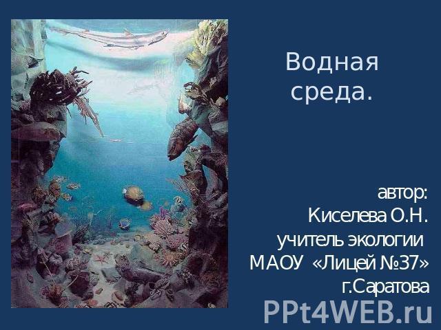 картинки на тему водная среда обитания