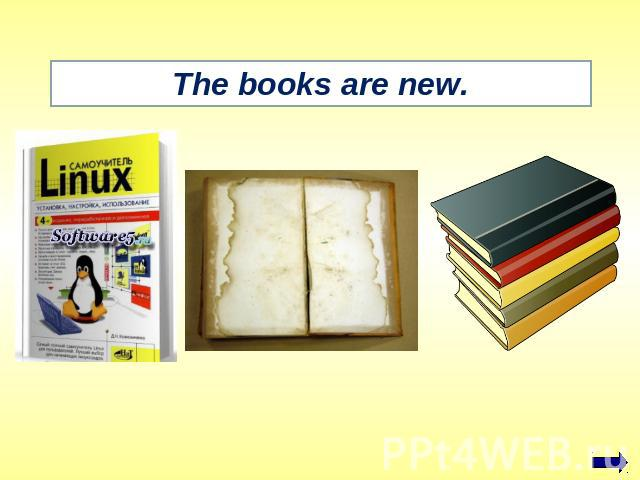 The books are new.