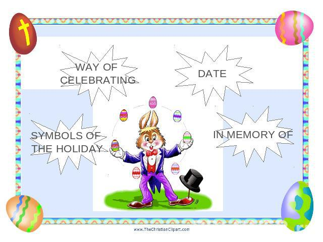 WAY OF CELEBRATING DATE SYMBOLS OF THE HOLIDAY IN MEMORY OF