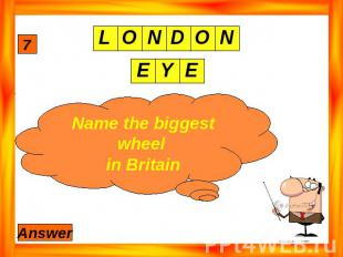 Name the biggest wheel in Britain