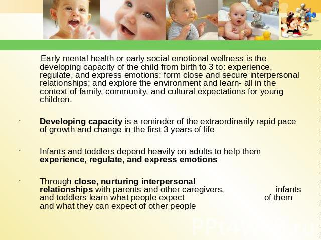 physical mental emotional and social development of infants At home articles & resources babies' social and emotional development provide your baby with chances to play with other children physical social & emotional.