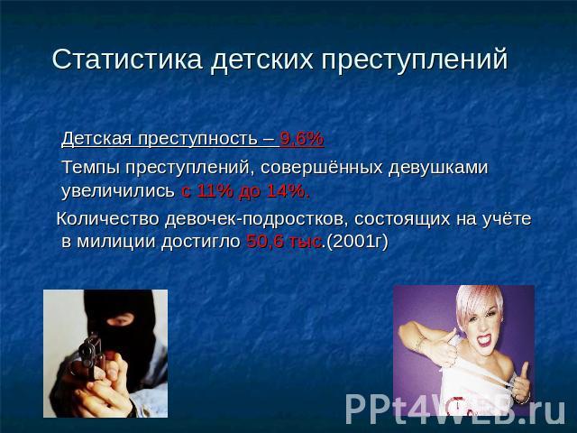 Доклад на тему детская преступность 2008