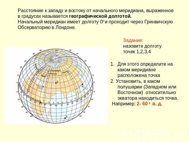 Что называют географической долготой