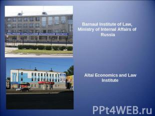Barnaul Institute of Law, Ministry of Internal Affairs of Russia Altai Economics