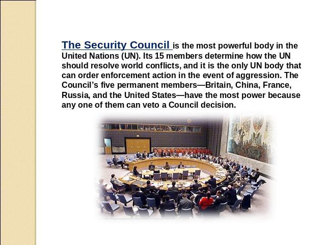 how the security council works? essay Thus, the research program might support research ranging from very basic work on fundamental psychological, physiological, social, and organizational processes related to deterring and detecting security threats, on one hand, to applied studies implementing scientifically sound methods in practical situations, on the other.