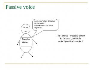 Passive voice I am used when the doer of the action is not known or it is not im