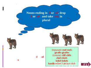 Nouns ending in -f or -ef, drop -f or -ef and take -ves in plural BUT some nouns