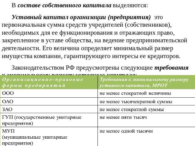уставной капитал муниципального унитарного предприятия обратиться, когда течет
