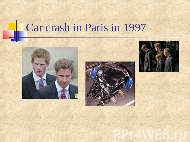 Car crash in Paris in 1997