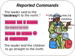 Reported Commands The leader said to the children, The leader told the children