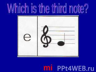 Which is the third note? mi