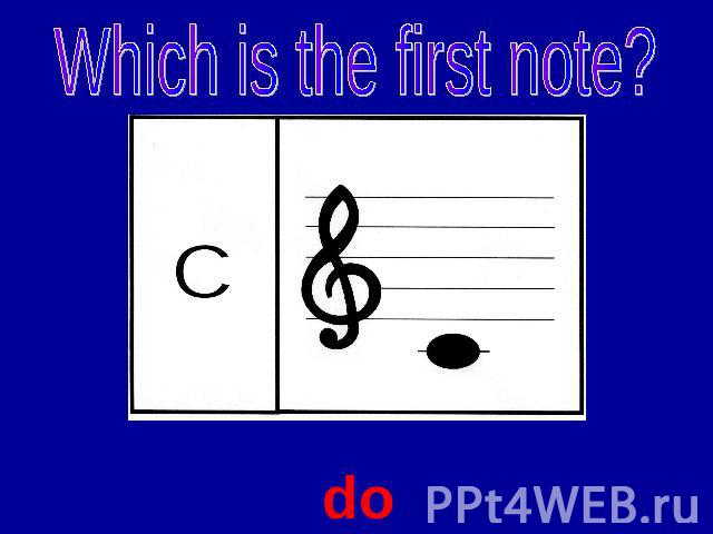 Which is the first note? do