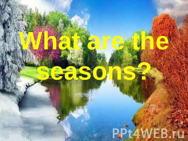 What are the seasons ?