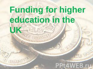 Funding for higher education in the UK