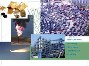 The reasons of formation of acid rains: Mineral fertilizersFuel burningFuel of p
