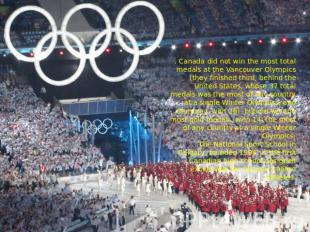 . Canada did not win the most total medals at the Vancouver Olympics (they finis