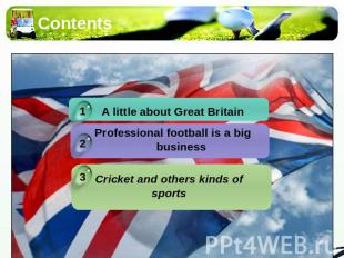 Contents A little about Great BritainProfessional football is a big business Cri