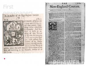 First newspapers New- England Courant