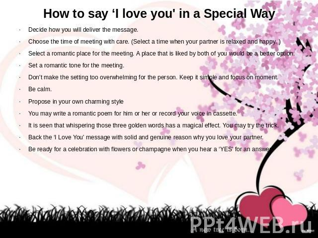 how to say i love you 23 insanely romantic ways to say i love you all of these involve food because it's the only thing that matters posted on february 12, 2014, 15:37 gmt emily.