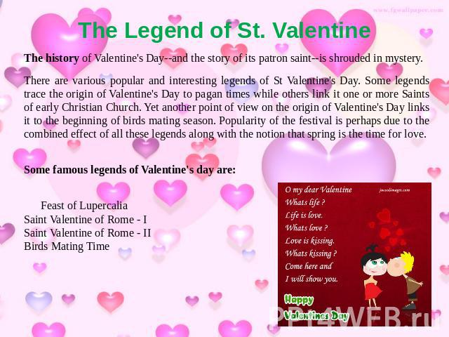 The Legend Of St. Valentine The History Of Valentineu0027s Day  And The Story