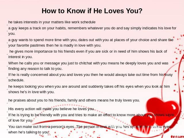 Signs That A Guy Loves You