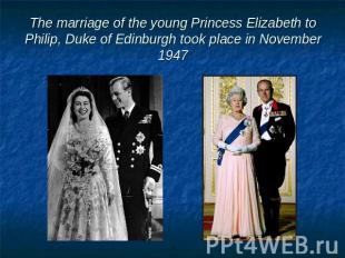The marriage of the young Princess Elizabeth to Philip, Duke of Edinburgh took p