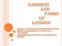 Gardens and Parks of London