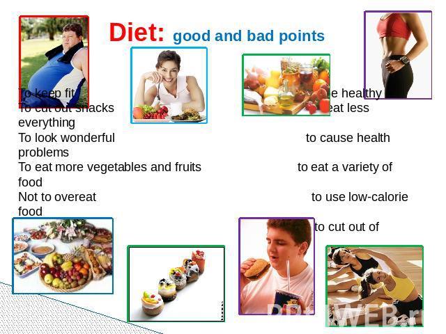 Текст о диете на английском языке