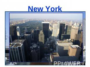 New York is one of the biggest cities in the USA, it's the city of contrasts, be