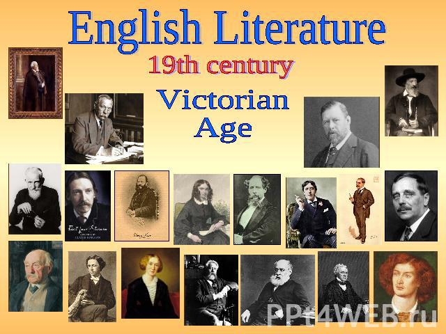 English Literature 19th century Victorian Age