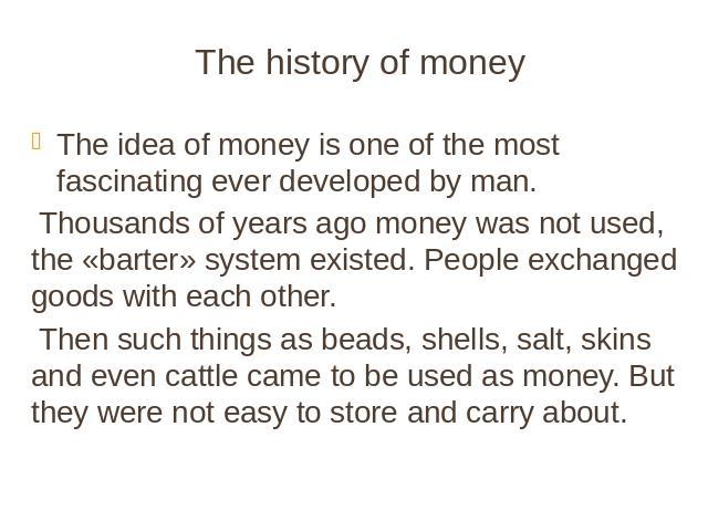 the theme of money is not