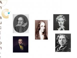 "An auction-""The famous writers of Great Britain"""