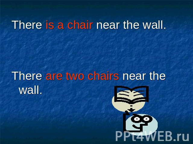 There is a chair near the wall. There is a chair near the wall. There are two chairs near the wall.