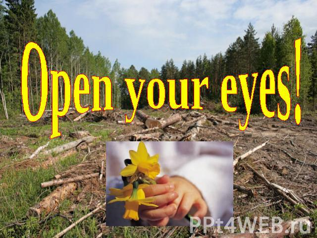 Open your eyes!