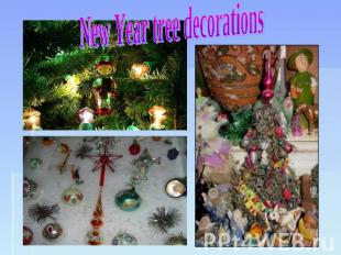 New Year tree decorations