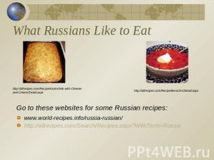 What Russians Like to Eat http://allrecipes.com/Recipe/Kartoshnik-with-Cheese-an