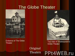 The Globe Theater Entrance of The Globe TheaterOriginal Theaters Top view of Sha