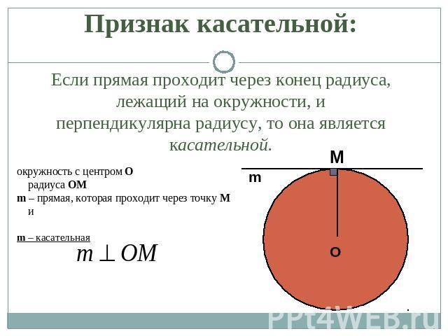 Касательный вектор к окружности