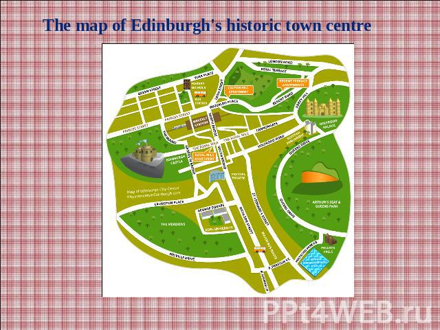 The map of Edinburgh's historic town centre